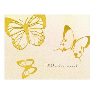 Schmetterlings-neue Adresse für ihre Postkarte