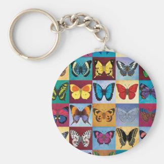 Schmetterlings-Patchwork Schlüsselanhänger