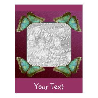 Schmetterlings-Rahmen Postkarte