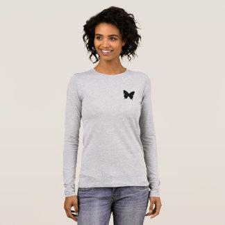 Schmetterlings-Spitze Langarm T-Shirt