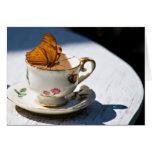 Schmetterlings-Tee Grußkarte