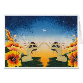 Schmetterlings-Traum II (die Form des Raumes) Grußkarte