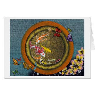 Schmetterlings-Traum VI (Fisch-Topf I Ching) Karte
