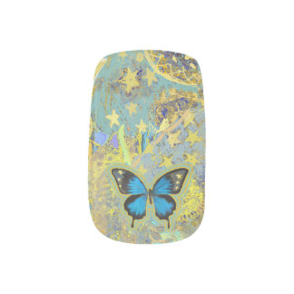 Schmetterlings-Traumnägel Minx Nagelkunst