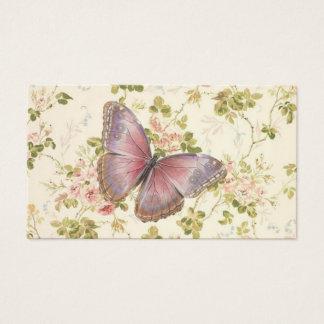 Schmetterlings-u. Rebe-Shabby Chic-nennende Karten