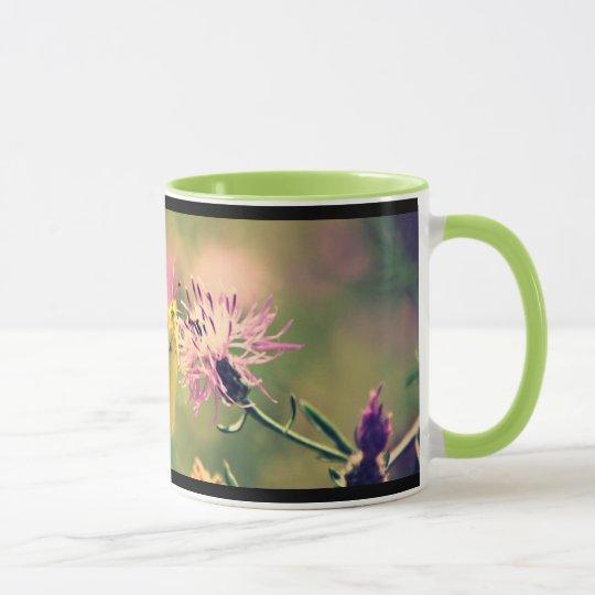 Schmetterlings-u. Wildblumen-Kaffee-Tasse Tasse