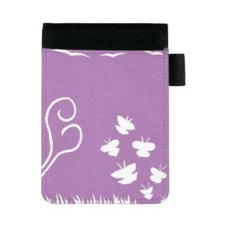 Schmetterlings-, Vogel-und Pflanzen-Silhouette Mini Padfolio