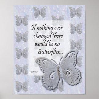 Schmetterlings-Wand-Kunst mit Zitat Poster