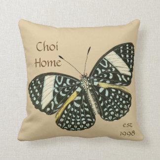 Schmetterlings-Zuhausekundenspezifisches Kissen