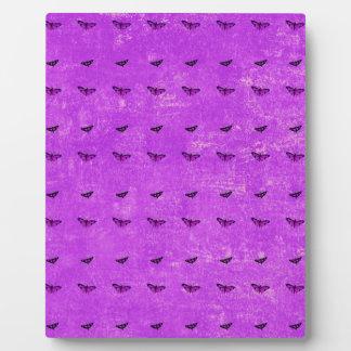 Schmetterlingsdruck lila fotoplatte