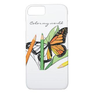 Schmetterlingsfarbton-Telefonabdeckung iPhone 7 Hülle