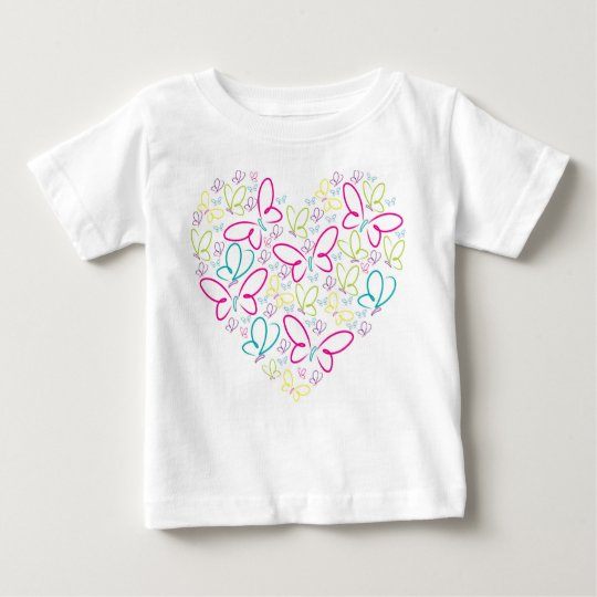 Schmetterlingsherz Baby T-shirt