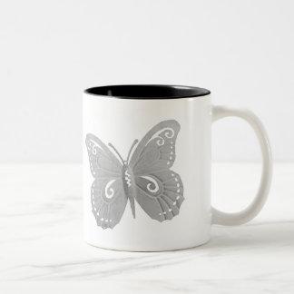 Schmetterlingskaffee-Tasse Zweifarbige Tasse