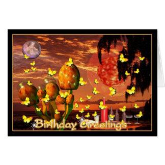 Schmetterlingsschwarm für Geburtstagsgrüße Karte