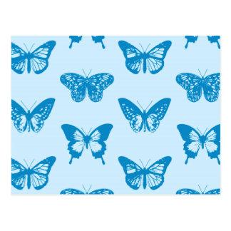 Schmetterlingsskizze, Cerulean und Himmelblau Postkarte