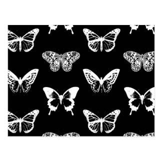 Schmetterlingsskizze, -WEISS und -SCHWARZES Postkarte
