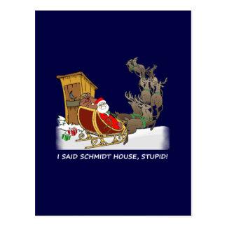 Schmidt-Haus-lustige Weihnachtspostkarte Postkarte