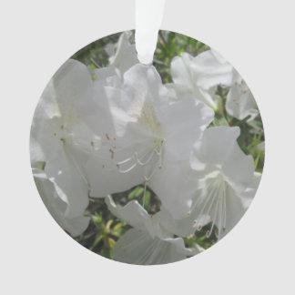 Schmuck - Anhänger - weiße Azaleen Ornament