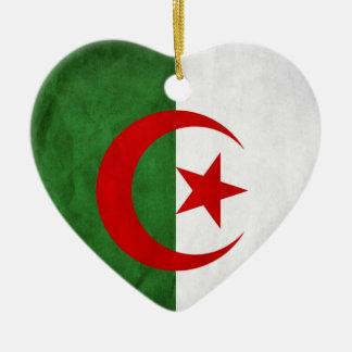 Schmutz-Algerien-Staatsflagge Keramik Ornament