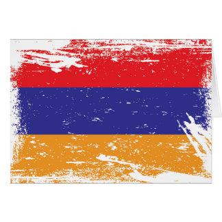 Schmutz-Armenien-Flagge Karte