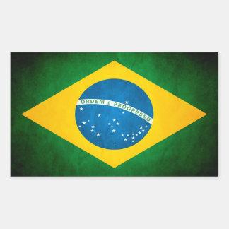 Schmutz-Brasilien-Flagge Rechteckiger Aufkleber