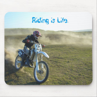 Schmutz-Fahrradmotocross-Reiter-Mausunterlage Mauspads