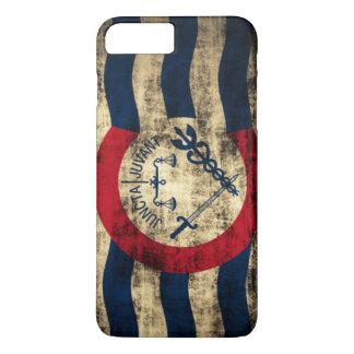 Schmutz-Flagge Cincinnatis Ohio iPhone 8 Plus/7 Plus Hülle