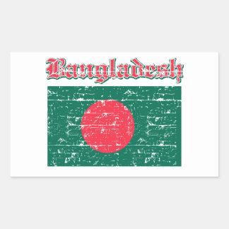 Schmutz-Flagge von Bangladesch Rechteckiger Aufkleber