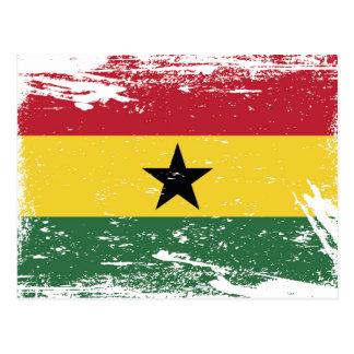 Schmutz-Ghana-Flagge Postkarte