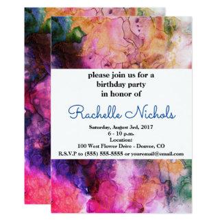 Schmutz-heller Aquarell-Tinten-Hintergrund 12,7 X 17,8 Cm Einladungskarte