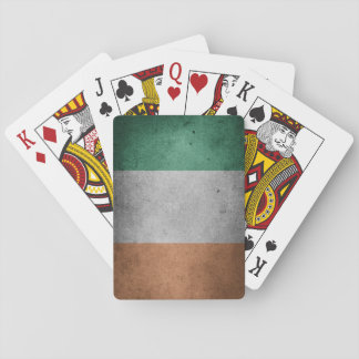 Schmutz-irische Flaggen-Spielkarten Spielkarten