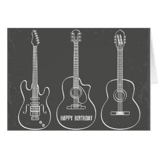 Schmutz-Musikgeburtstag des Gitarrentrios Retro Grußkarte
