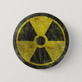 Schmutz-radioaktives Symbol Runder Button 5,7 Cm