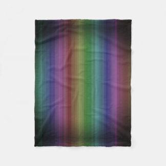 Schmutz-Regenbogen-Rock-Streifen-Linie Muster Fleecedecke