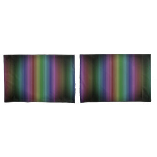 Schmutz-Regenbogen-Rock-Streifen-Linie Muster Kissen Bezug