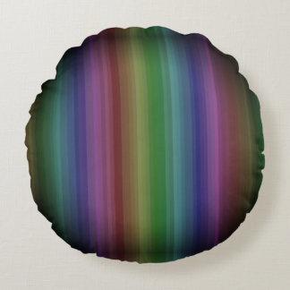 Schmutz-Regenbogen-Rock-Streifen-Linie Muster Rundes Kissen