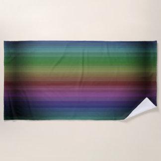 Schmutz-Regenbogen-Rock-Streifen-Linie Muster Strandtuch