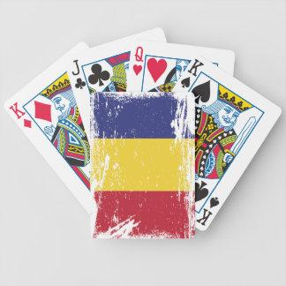 Schmutz-Rumänien-Flagge Bicycle Spielkarten