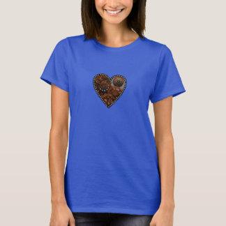 Schmutz Steampunk stoppt ab und übersetzt Herz T-Shirt