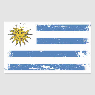 Schmutz-Uruguay-Flagge Rechteckiger Aufkleber