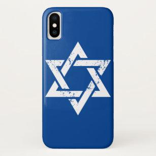 Schmutz-weißer jüdischer Symbol-Israel-Davidsstern iPhone X Hülle