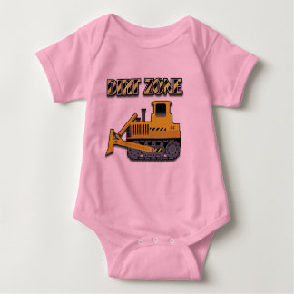 Schmutz-Zone (Planierraupe) - Baby-Jersey-Bodysuit Baby Strampler
