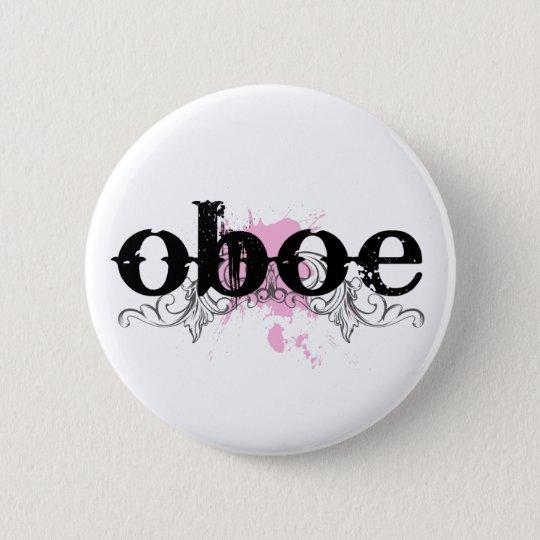 Schmutzblick Oboe Knopf Runder Button 5,7 Cm