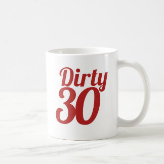 Schmutzige 30 kaffeetasse
