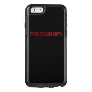 Schmutziger Handyfall der Rotwild-Jahreszeit OtterBox iPhone 6/6s Hülle