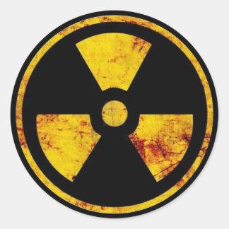 Schmutziger nuklearer Warnzeichen-Aufkleber Runder Aufkleber