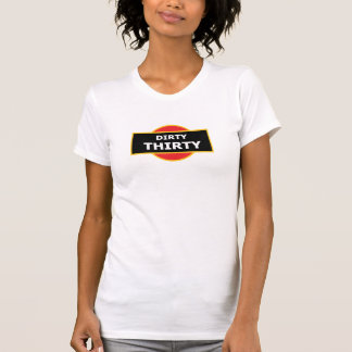 Schmutziges dreißig Martini-Logo-T-Stück oder T-Shirt