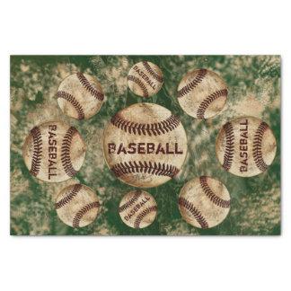 Schmutziges Vintages Baseball-Seidenpapier Ihre Seidenpapier