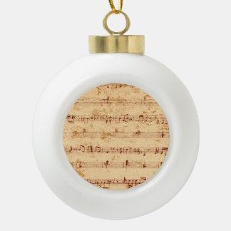 Schmutzklavier merkt Musikblatt Keramik Kugel-Ornament