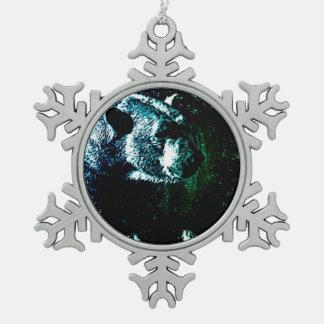 Schmutzwildnistier-Arktis-Eisbär Schneeflocken Zinn-Ornament